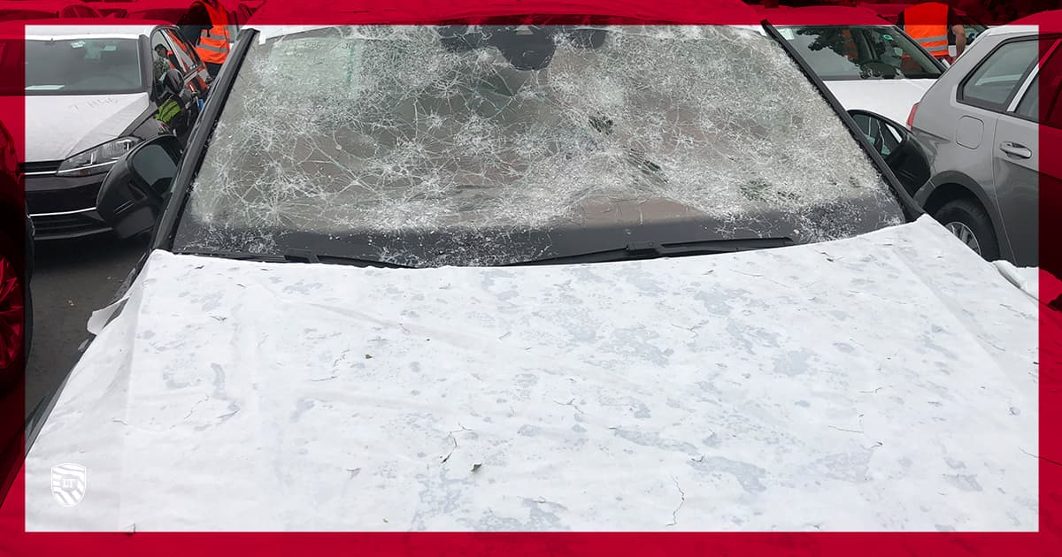 Vehicle damage caused by weather agents